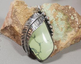 Prince Mine Variscite Sterling Silver Pendant  50-0131