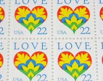 Sheet of 100 Stamps, 22c Love, Scott #2248