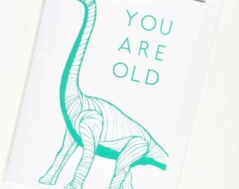 Funny Dinosaur Birthday Card - 'YOU ARE OLD'