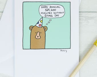 Funny Birthday Card, Unique Birthday Card, Cute Birthday Card