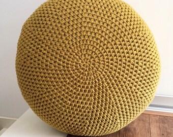Crochet cozy pouf pattern - PDF Pattern