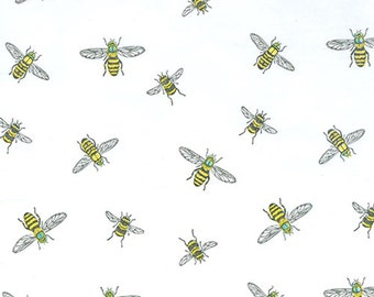Bumble Bee Tissue Paper , 10 large sheets, gift wrapping, packaging , favors, weddings, Designer Print Tissue Paper