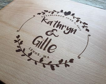 Personalized Cutting Board, Engraved Cutting Board, Personalized Wedding Gift, Wedding Gift, Housewarming Gift, Anniversary Gift