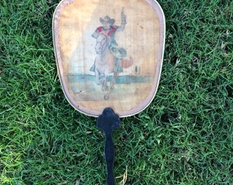 Do Not Get Hot & Bothered By This Antique Cowboy Hand Fan Or Do