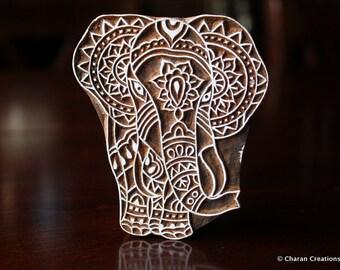 Textile Stamp, Pottery Stamp, Indian Wood Stamp, Tjaps, Blockprint Stamp, Printing Stamp Blocks- Elephant