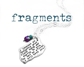 fragments are a design-your-own Sterling Silver pendant