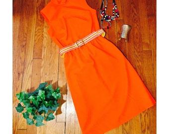Orange Crush Mod Dress