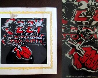 1982 Ozzy Osbourne Mirror // Heavy Metal Rocker Carnival Fair Bizarre Prize