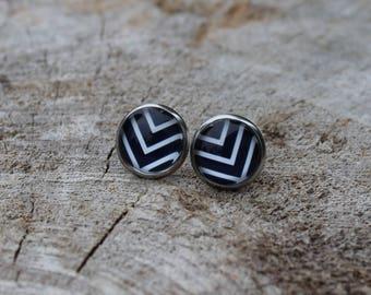 Petites merveilles chevron // earrings // fait au quebec   (BO-1281)