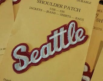 SEATTLE Iron on Sew on Patch