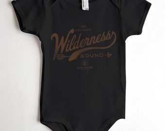 Wilderness Bound Onesie - American Apparel Baby One Piece - All Sizes Available