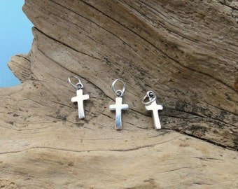 Sterling Silver Cross Charm - 8x16mm - Sold Per Piece - CR3CR