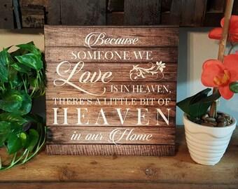 "14 x 14 Farmhouse ""Heaven"" Canvas art"