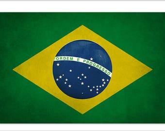 Bandeira Brasil Vinyl Sticker