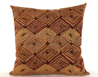 Rust Pillow Cover Southwest Upholstery Fabric Decorative Pillow Cushion Throw Pillow Cover 20x20 18x18 16x16
