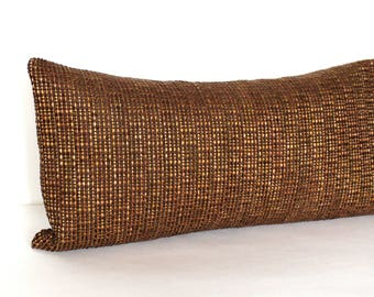 Lumbar Pillow Cover Brown Pillow Cover Stripe Upholstery Fabric Decorative Pillow Oblong Throw Pillow Cover 12x24 12x21 12x18 12x16 10x20