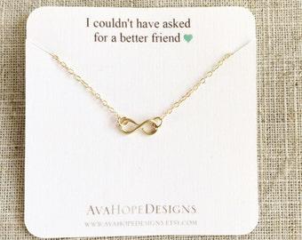 Best Friend Bracelet, Gold Bracelet, Infinity Bracelet, Dainty Gold Bracelet, Birthday Gift Bridesmaid gift, Gift for her, Best Friend Gift