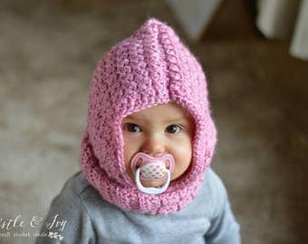Baby Hooded Cowl Crochet Pattern PDF DOWNLOAD