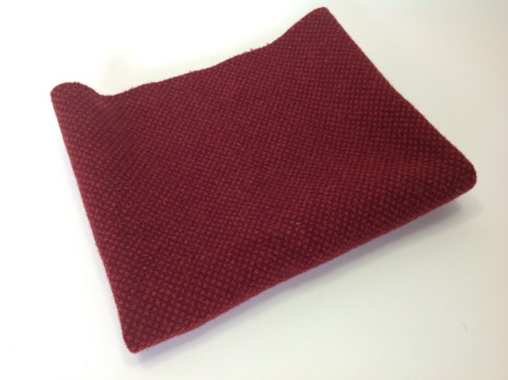 Ruby Red Honeycomb, Wool Fabric for Rug Hooking and Applique, Select-a-Size, W267, Mill Dyed Wool Fabric, Garnet Red, Cranberry Red