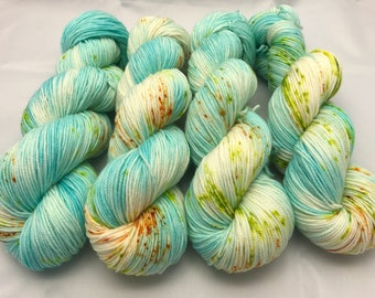 Stuart Sport, Hand dyed yarb, SW Merino  nylon, sport weight, sock yarn, superwash merino, Blue Margarita