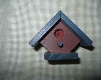 Miniature Painted Wood Bird House