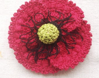 Poppyseed Flower Knitted hair clip