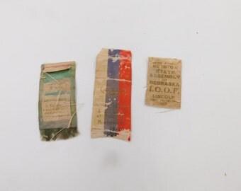 Three Early 1900's IOOF International Order of Odd Fellows  Nebraska State Assembly Ribbons