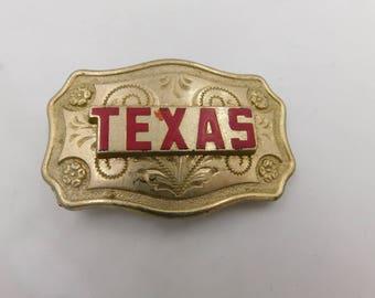 Vintage Ladies Western Style Brass Texas Cowgirl Belt Buckle dr38