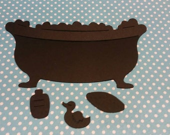 Bathtub-Accessories Die Cut. 10 CT- Die Cut- Cutout- Custom Colors Available