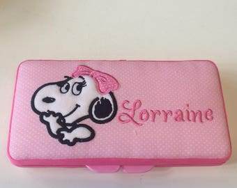 Personalized Baby Girl Belle Snoopy Wipe Case