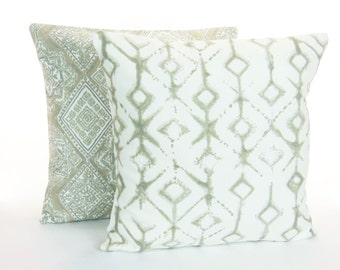 Throw Pillows For Taupe Couch : Pillows Taupe Tan Decorative Throw Pillow Cushion COVERS Two