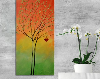 Heart Painting, abstract heart artwork, abstract heart painting, marriage gift, Textured Modern Contemporary, couple gift, gift for wife