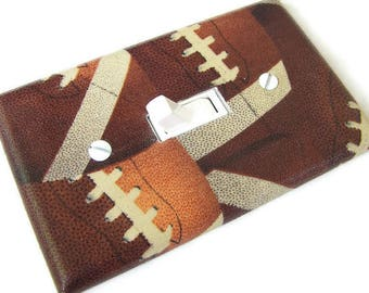 FOOTBALLS Light Switch Cover Plate Switchplate Sports Decor Football Decor