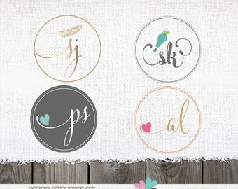 initials logo photography logo circular logo photographers logos photography watermarks premade logo designs add on alternate circle