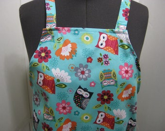 Owls And Flowers Women Apron