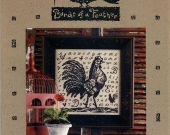 Birds of a Feather: Toile Rooster (OOP) - Cross Stitch Pattern