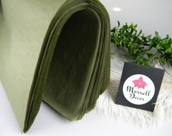 """Olive Green Tissue Paper Sheets, Gift Wrap Paper Tissue, Rustic Green Wedding Decor, Olive Gift Packaging, 72 Sheets 20"""" X 30"""" Gift Tissue"""
