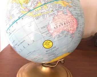 Vintage 9 inch Terrestrial globe Geo F Cram company made