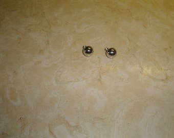 vintage clip earrings silvertone circles monet
