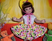 """Fits 14"""" Betsy McCall Tonner Doll .. Tutti-Fruity 50's Style Dress ..D1154"""