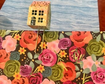 Little House on the Planner planner clip will fit most planners, Bibles, books, office papers