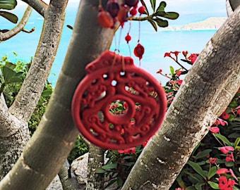 Cinnabar Pendant Necklace