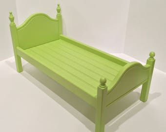 "American Girl Doll: Furniture lime green  'Lil Elena doll bed for 18"" doll"