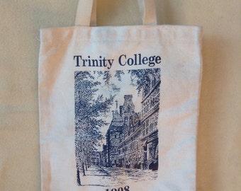 1998 Trinity College canvas tote bag