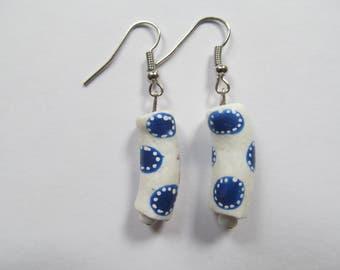 Blue Polka Dot Earrings