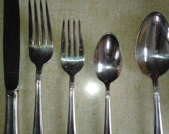 Holmes and Edwards Inlaid Silver plate Flatware ~ Danish Princess Pattern