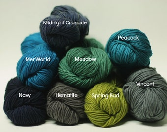 MCN Sport Sock Yarn Hand dyed painted Superwash Merino Cashmere Nylon Lux