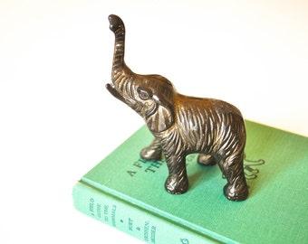 Petite Brass Elephant Figurine