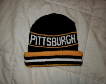 Pittsburgh Penguins winter cap, 1980s Vintge