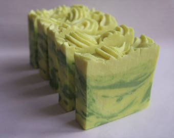 Pear Blossom & Amber Goat's Milk Soap with silk